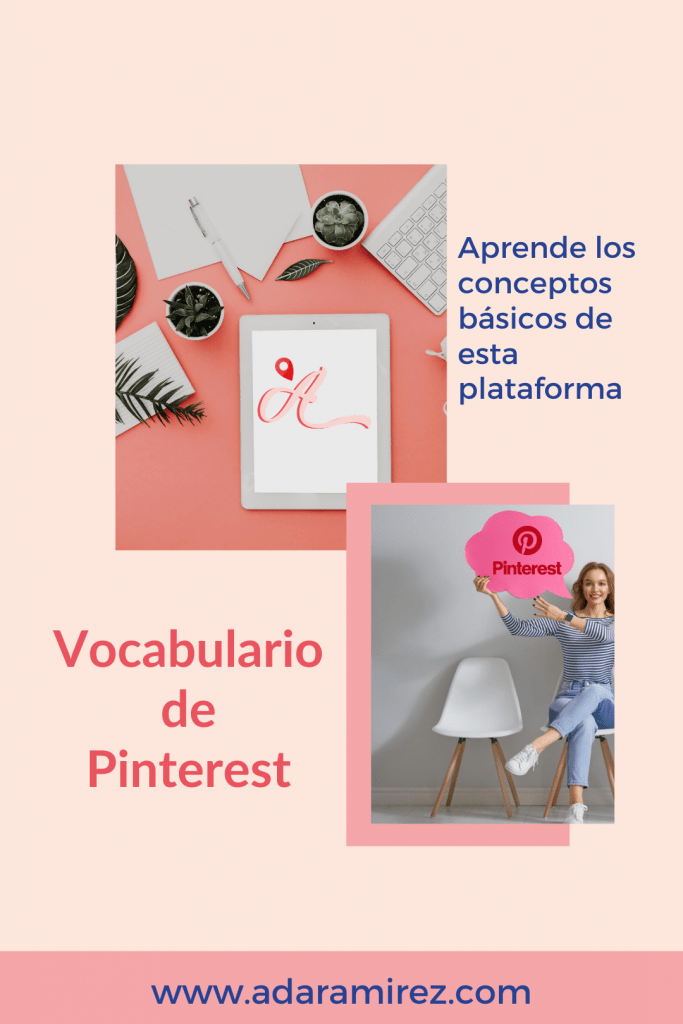 Vocabulario de Pinterest