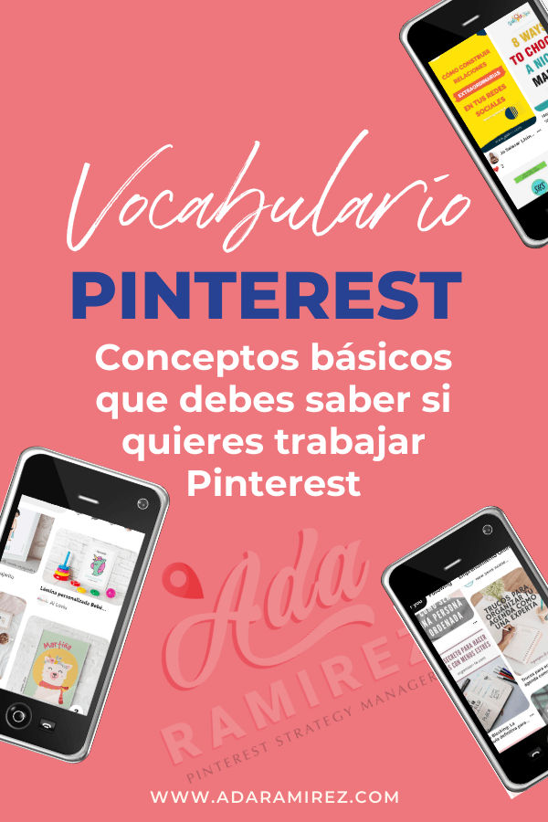 Vocabulario de Pinterest para negocios