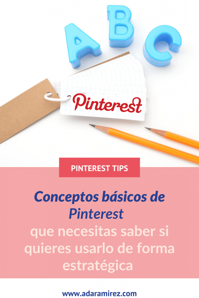 vocabulario pinterest. conceptos básicos