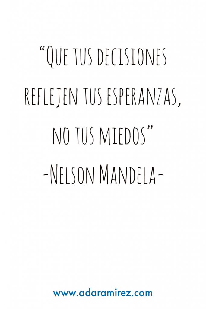 Frase motivadora de Nelson Mandela