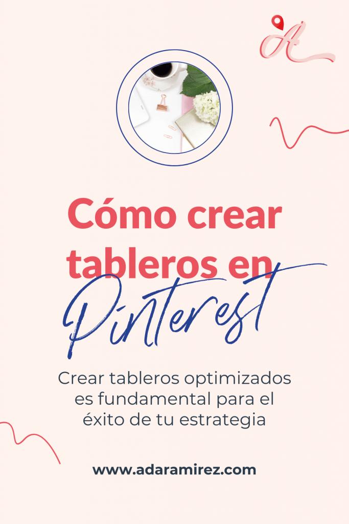 Crear tableros en Pinterest