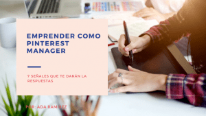 Emprender como pinterest manager