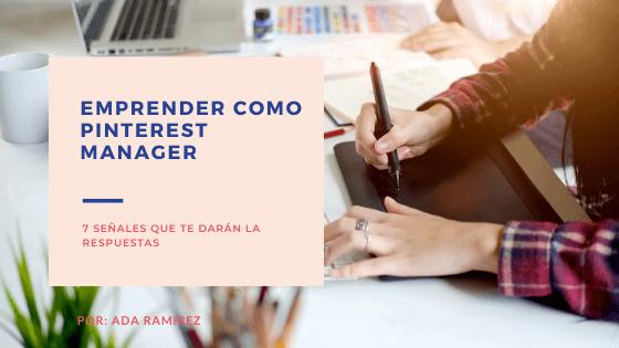 Emprender como pinterest manager